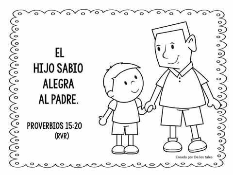 Proverbios 10:1 Los proverbios de Salomón. El hijo sabio alegra al ...