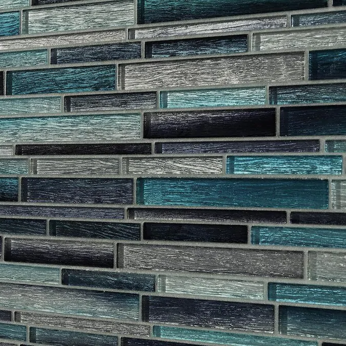 glossy glass linear wall tile