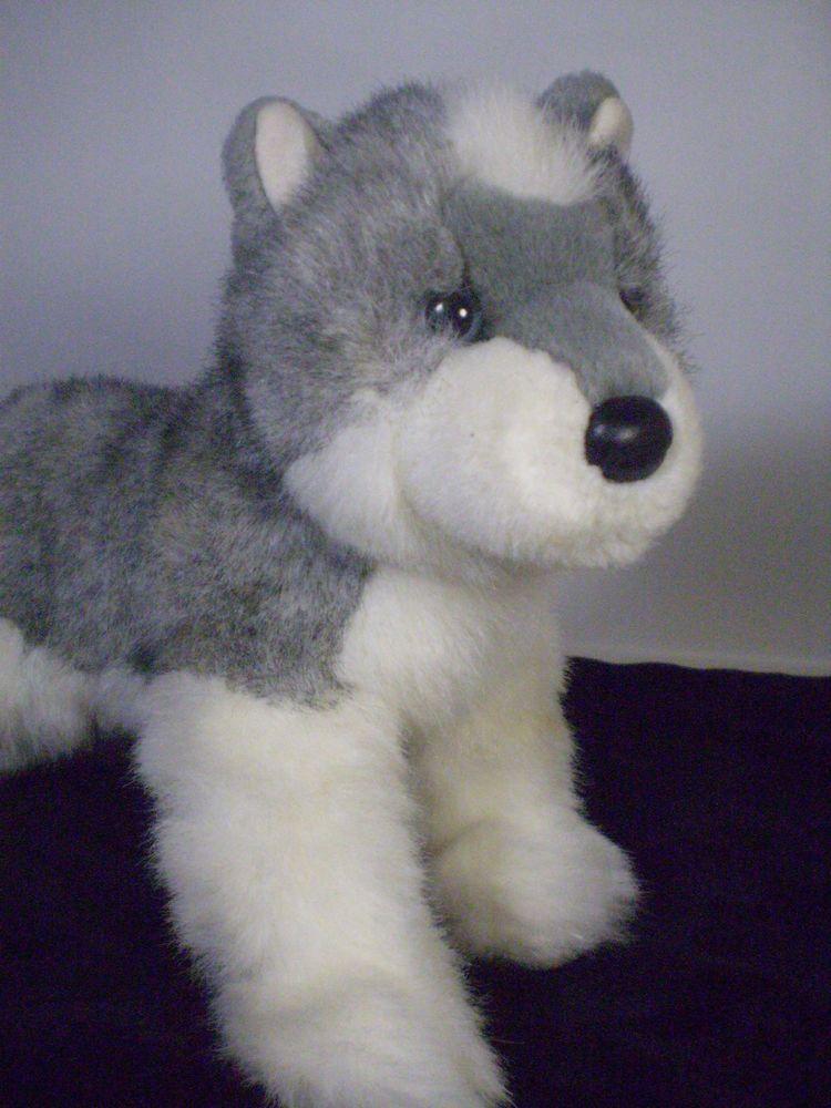 Douglas Cuddle Toy Grey White Alaskan Malamute Husky Puppy Dog