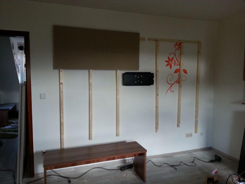 Wohnwand Tv Wand Selbst Gebaut Teil 1 Tv Wand Ideen Wohnzimmer Tv Wand Selber Bauen Tv Wand Wohnzimmer