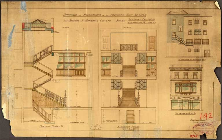 Related image blueprints pinterest building drawings of alterations to premises high st england brothers plans of christchurch buildings from the christchurch city council archive malvernweather Image collections