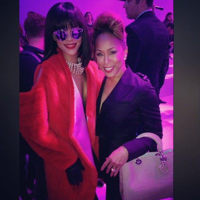 Marjorie harvey and Rihanna.