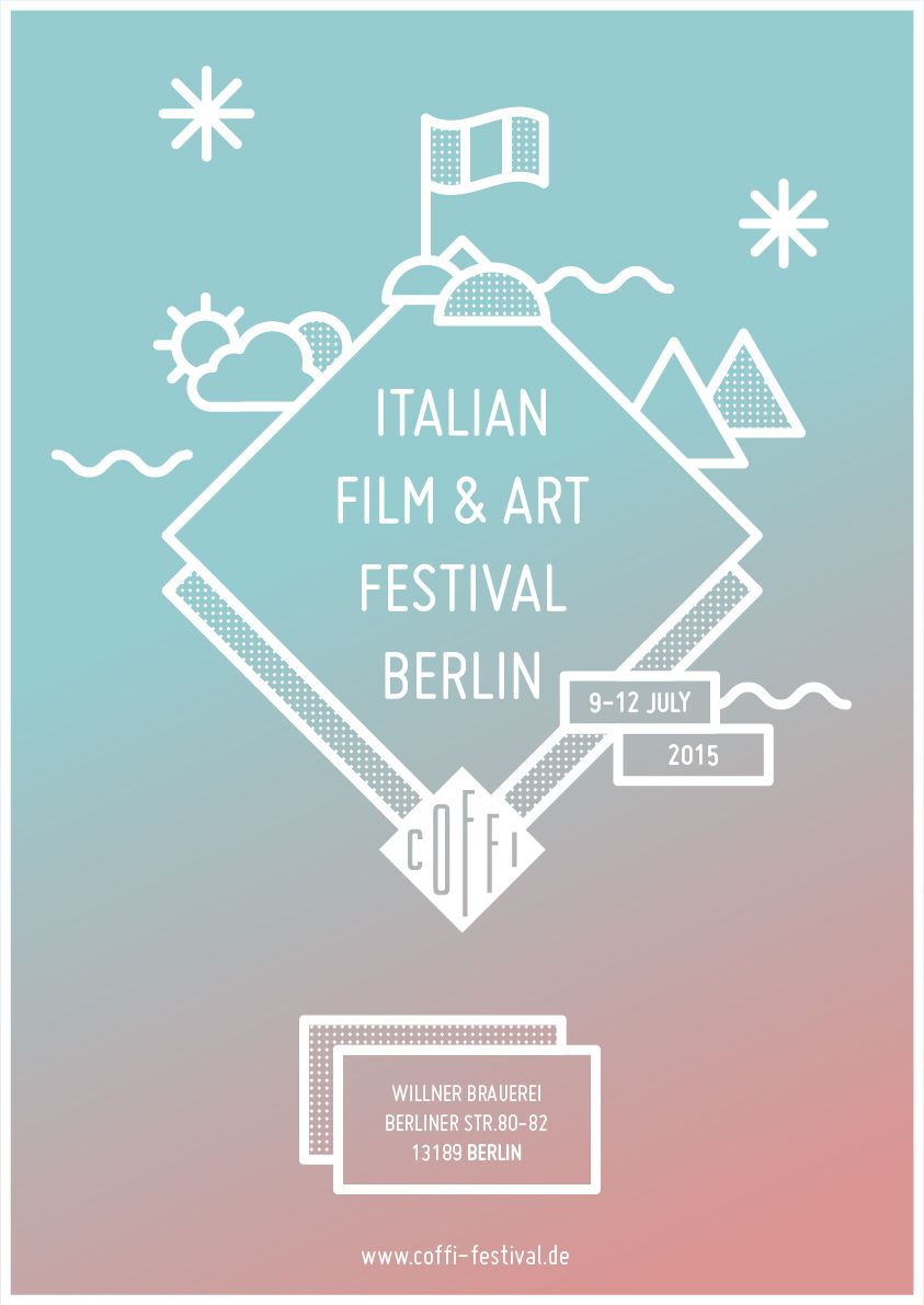 Poster design graphic design - Italian Film Art Festival Berlin Poster Contest Gloria Ciceri Graphic Design