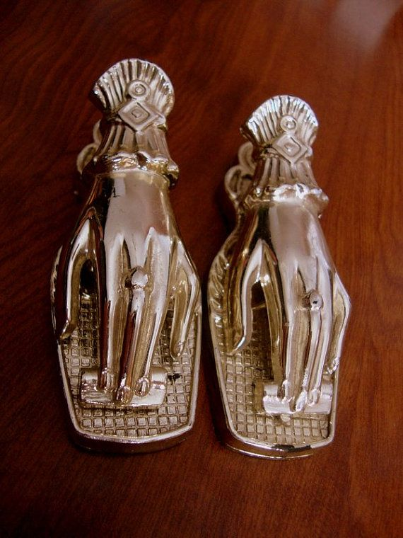 Goldtone Victorian Hand Clips Set of Two by CherryBerryVintage, $15.00