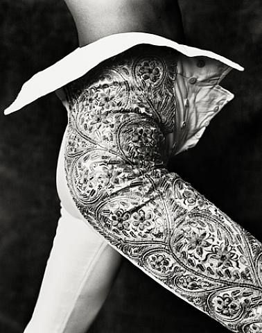 Photographed by Ruven Afanador for his book Torero. Balenciaga was influenced by the traje de luces ('suit of lights') a torero wears.