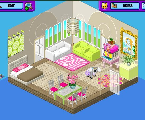 Like The Green And The White Couches Webkinz Boy Room