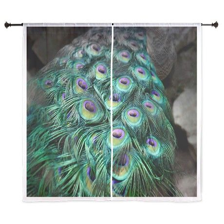 Peacock Tail Feathers Curtains on CafePress.com