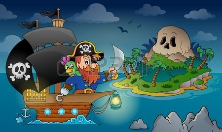 Pirate ship theme image 4 - eps10 vector illustration