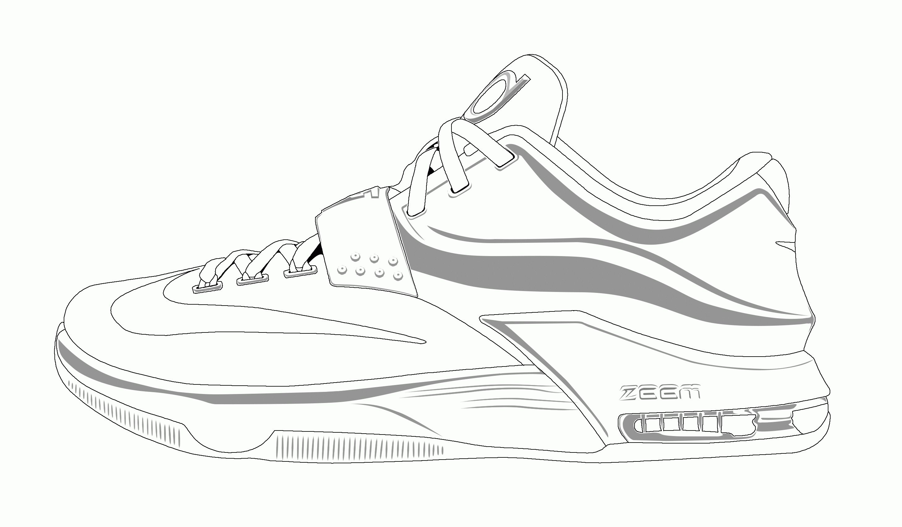 Tennis Shoes Coloring Pages Printable
