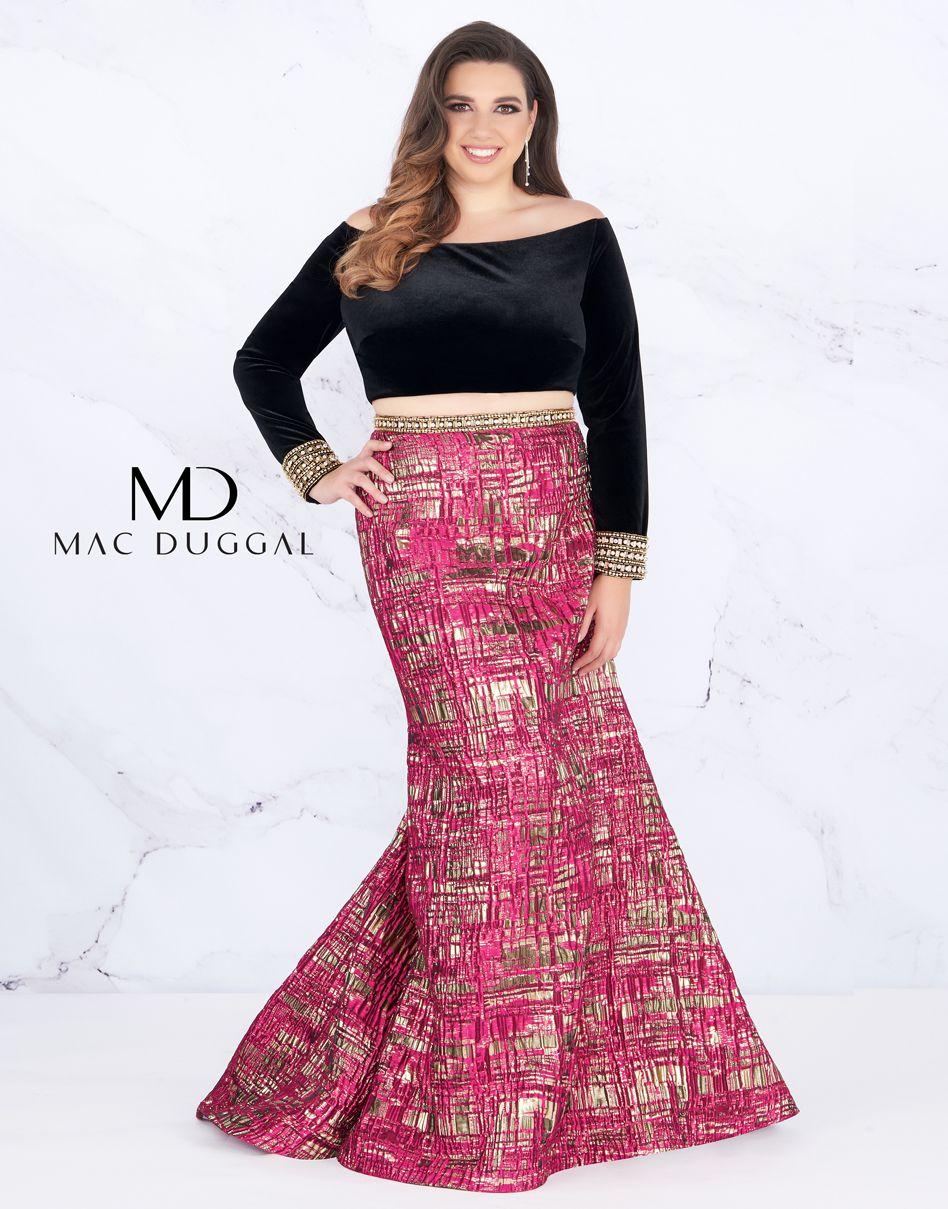 66789f Mac Duggal Two Piece Plus Size Prom Dress Plus Prom Dresses Plus Size Prom Dresses Dresses [ 1209 x 948 Pixel ]
