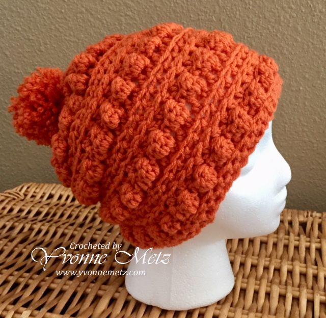 The BoHo Messy Bun Beanie – Yvonne Metz | CROCHET Hat Patterns ...