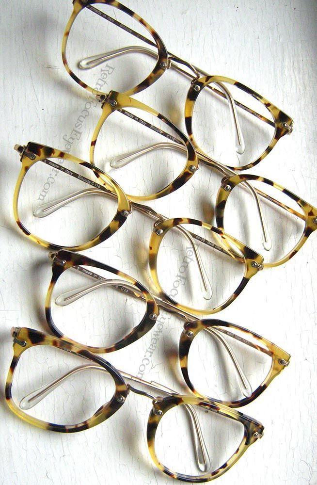 Binocle Italy. 14k GF Panto Hornrim eyeglass frames in Antique ...