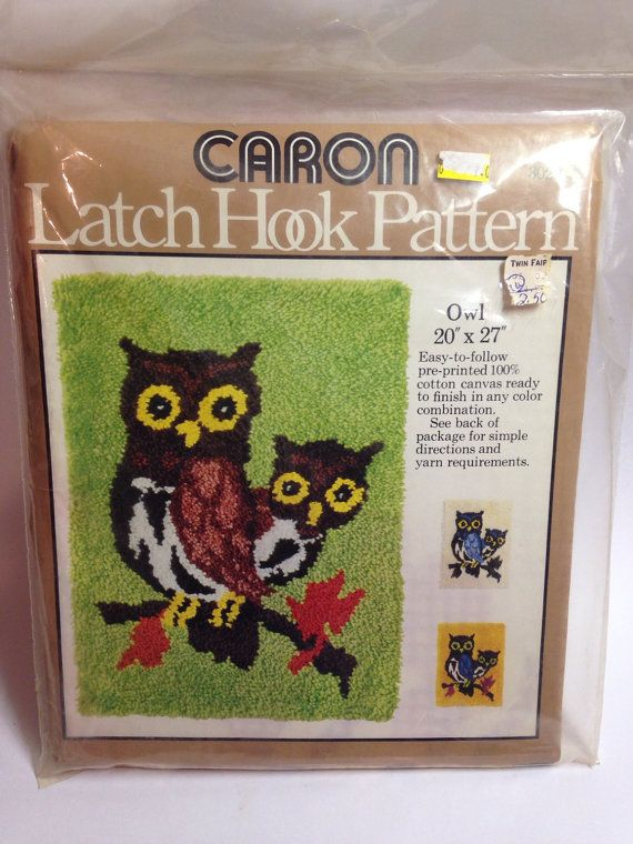 Vintage Owls Latch Hook Pattern By Caron By Watervalleyvtg On Etsy