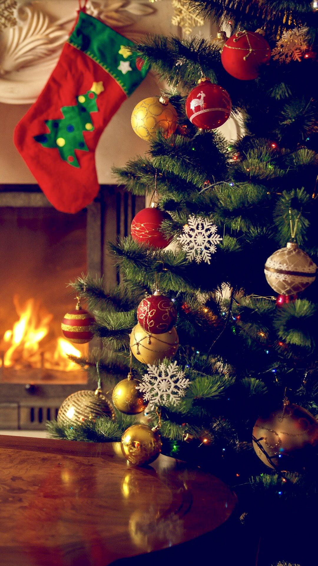Christmas iPhone wallpaper Рождественские обои