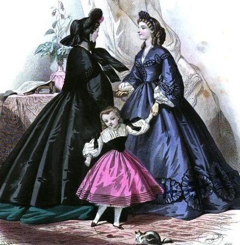 Ladies Of The 1860s: Le Moniteur de la Mode for November 1861