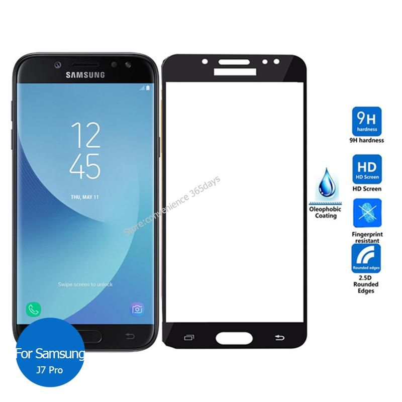 For Samsung Galaxy J7 Pro 2017 Full Cover Tempered Glass Screen Protector 2 5 9h Safety Protective Film On J7pro J 7 730f J730 With Images Samsung Galaxy Samsung Tempered Glass Screen Protector