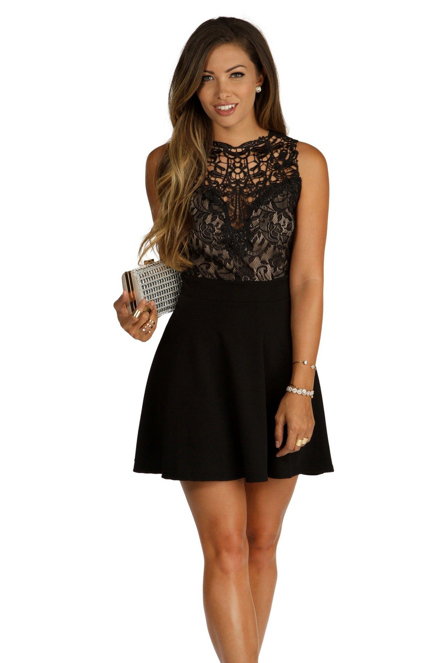 f7ec1a9db 30 ideas skater dress black to Follow | party wear | Dresses, Skater ...