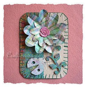 Artist Trading Card Craft - Romantic Spring ATC
