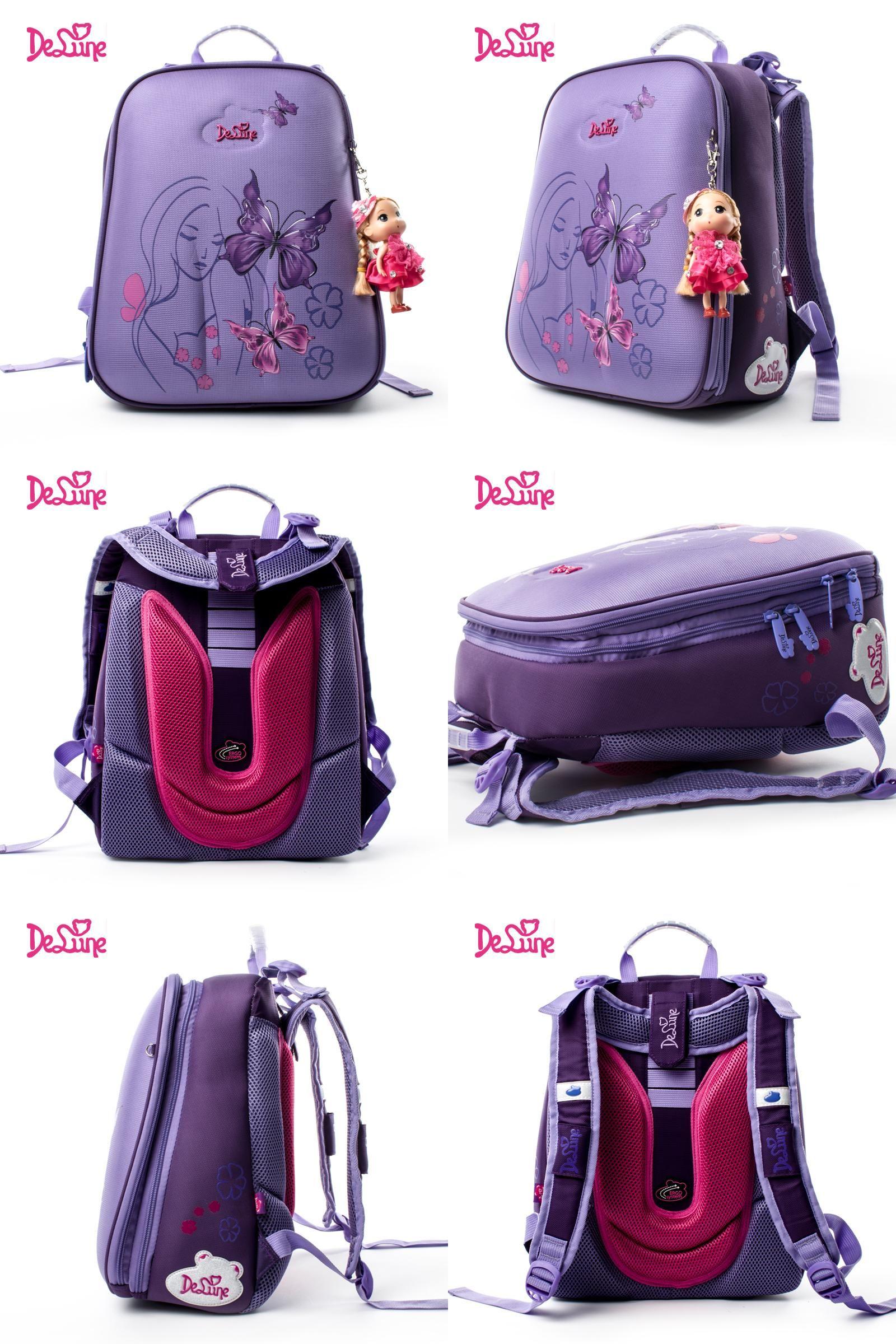 Delune Boys Schoolbag Backpack Rucksack High Quality Shoulder Bag Satchel Bag