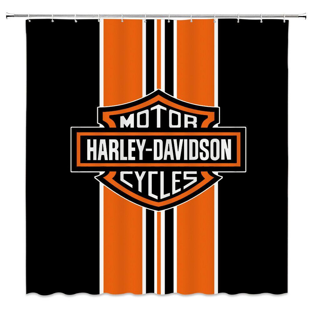 Bathroomart Bathroomdecor Motor Cycles Harley Davidson Shower