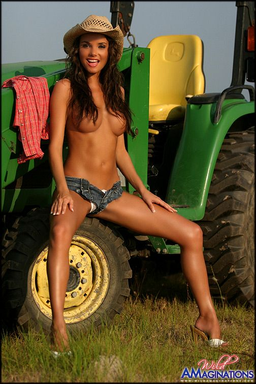 Consider, that sexy girl on john deere tractor