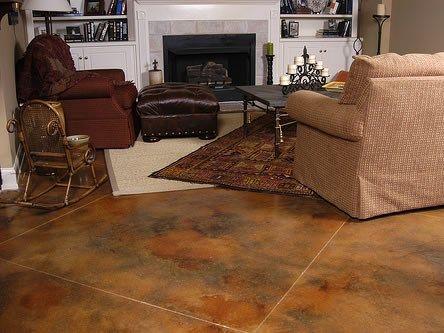 Breathtaking Interior Concrete Stain Colors Images - Simple Design ...
