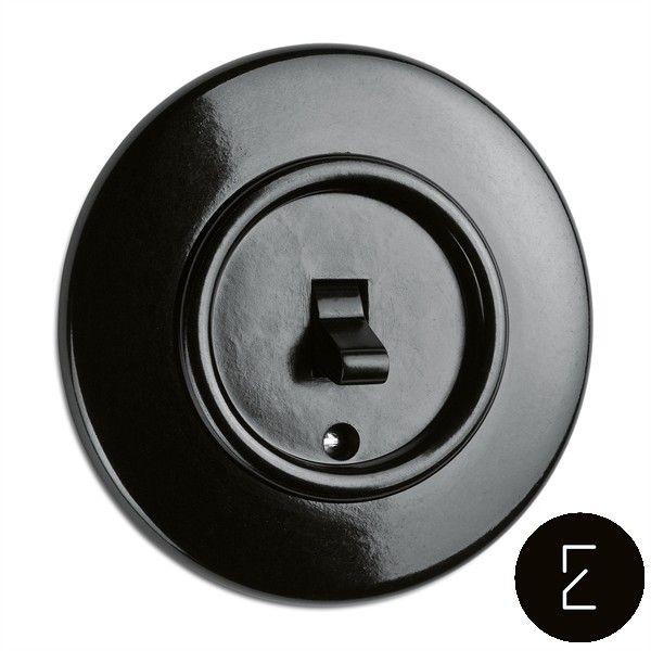 Interrupteur Va Et Vient Retro Rotatif Bakelite Noir Interrupteur Design Interupteur Interrupteurs