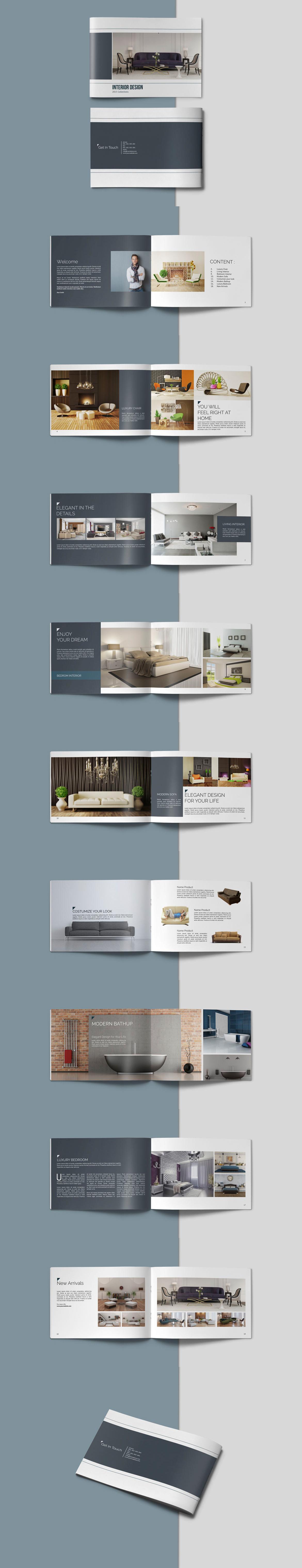 Portfolio Brochure Catalogs Template PSD, INDD - 20 Pages | Brochure ...