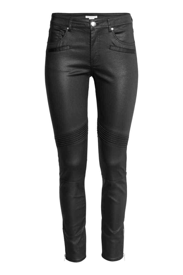 36e1f3faad22 Skinny Ankle Biker Jeans | the LOOK | Biker jeans, Leather pants ...