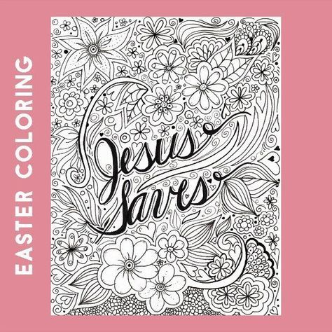 Jesus Saves Advanced Coloring Page