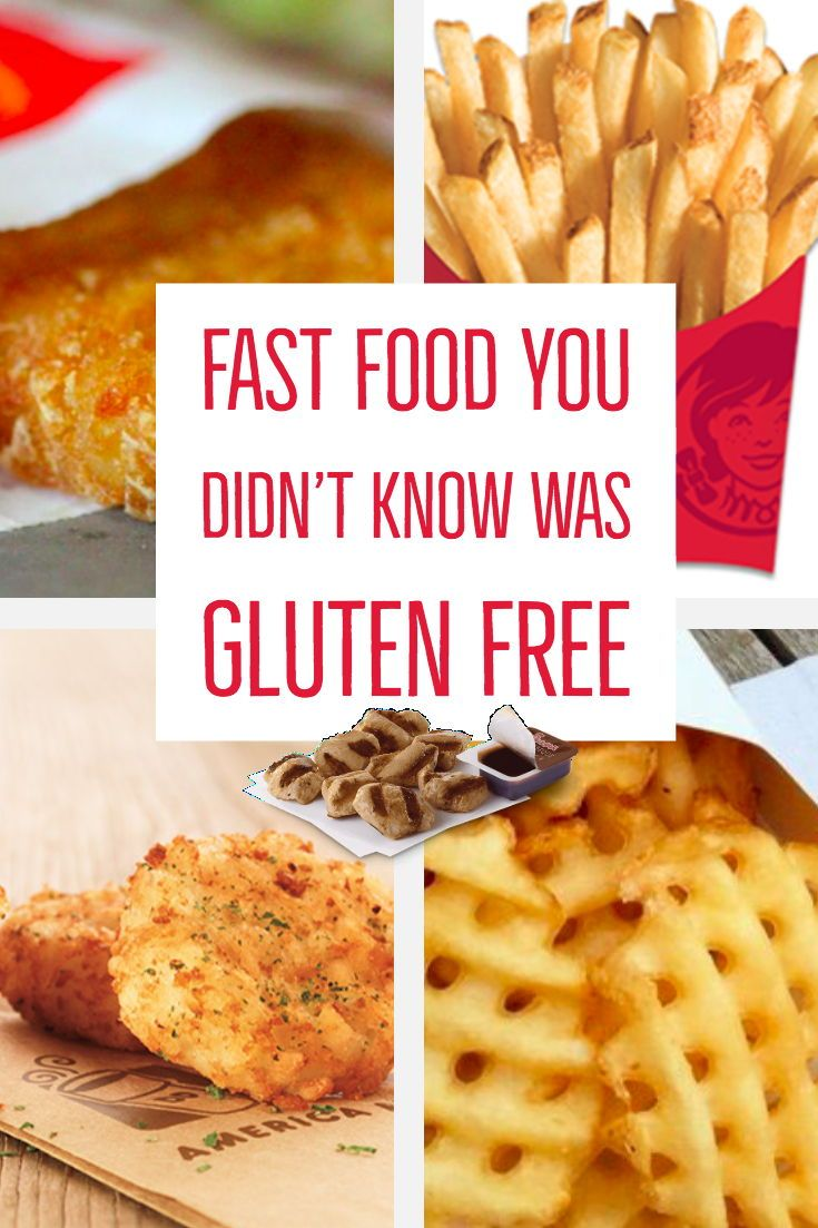 Fast Food Menu Items You Didn't Know Were Gluten Free Fast Food Menu Items You Didn't Know Were Gluten Free Gluten Free Recipes gluten free foods