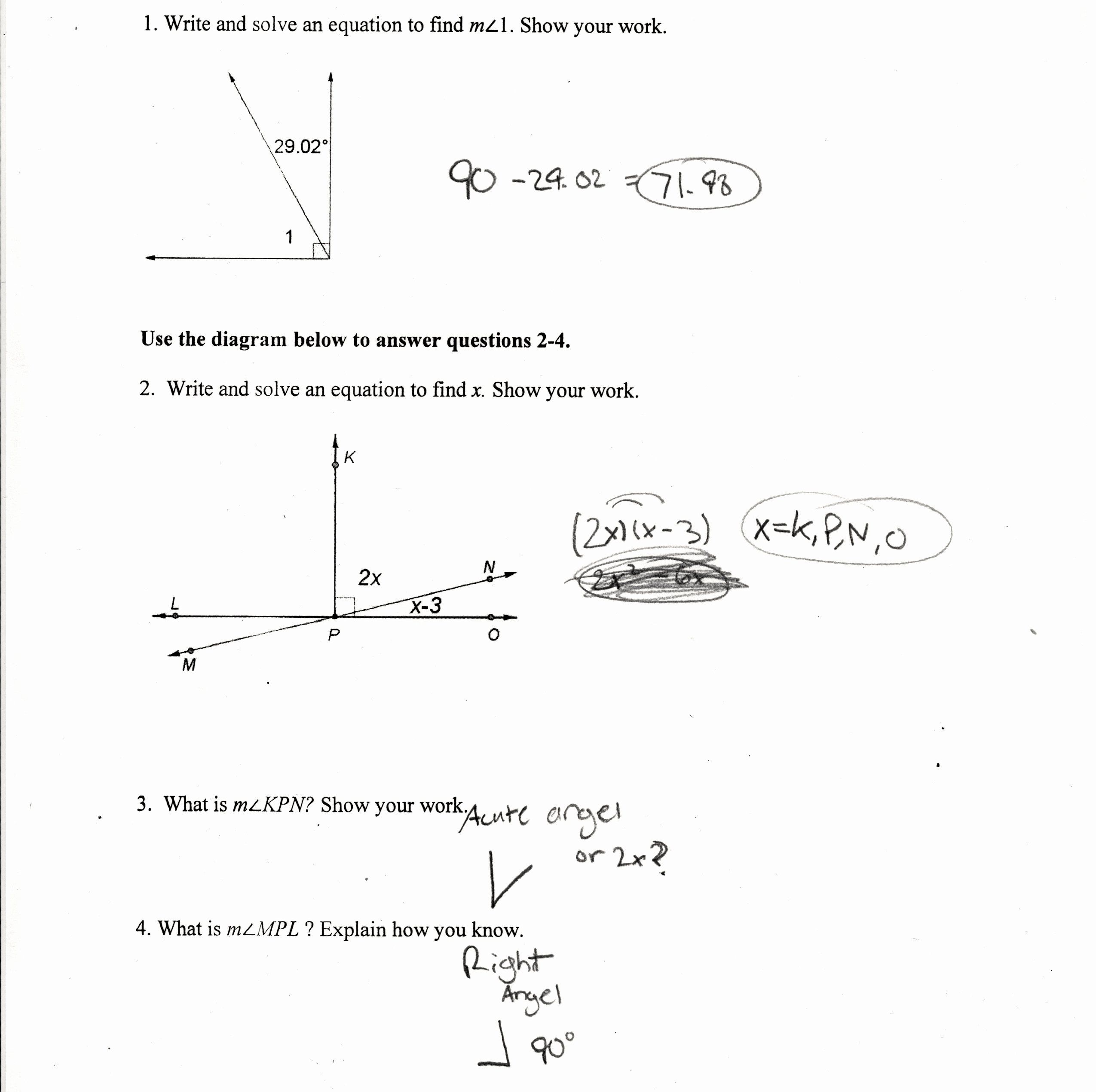 Finding Angle Measures Worksheet Luxury Find The Measure