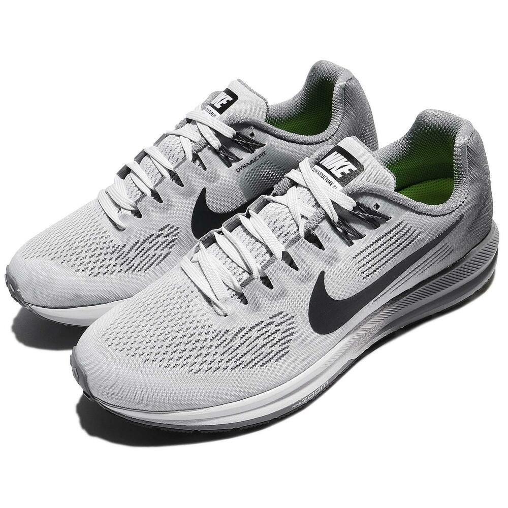 a1e128e0dd0ee Nike Wmns Air Zoom Structure 21 Grey Anthracite Women Running Shoes ...