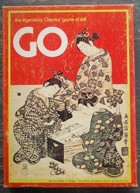 Vintage GO Bookshelf BOARD GAME Oriental Strategy by