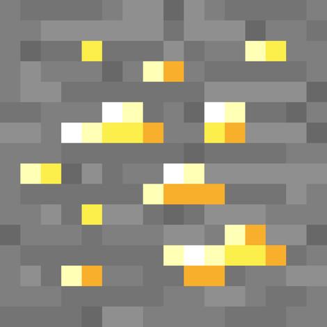 Spoonflowergiftwrap 8 Bit Gold Ore Fabric By Cmcnealy On Spoonflower Custom Fabric Imagens Minecraft Monalisa Desenho Rayquaza Pokemon