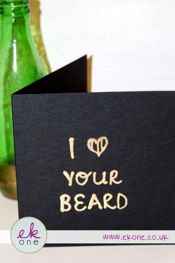 EKone Card *Competition* - EKone gold on black card. Any phrase on the front by EKoneUK on Etsy