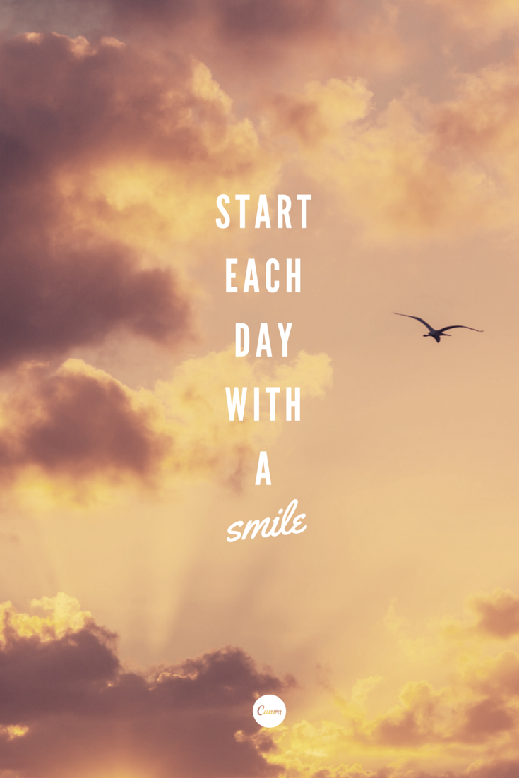 Start Each Day With A Smile Inspiration Quote Mondaymantra
