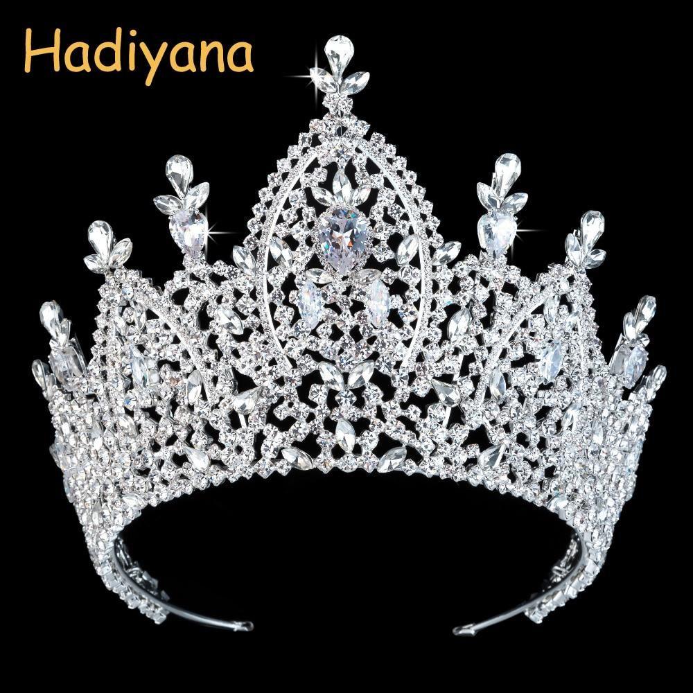 Tiara Bridal Crown Pageant Hochzeit Haarschmuck Royal Zirconia Imperial Crowns Schmuck