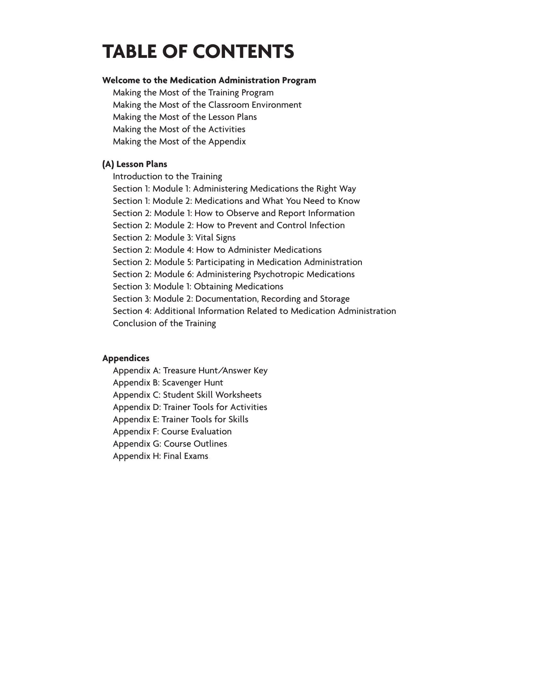 Medication Management Worksheets Activities