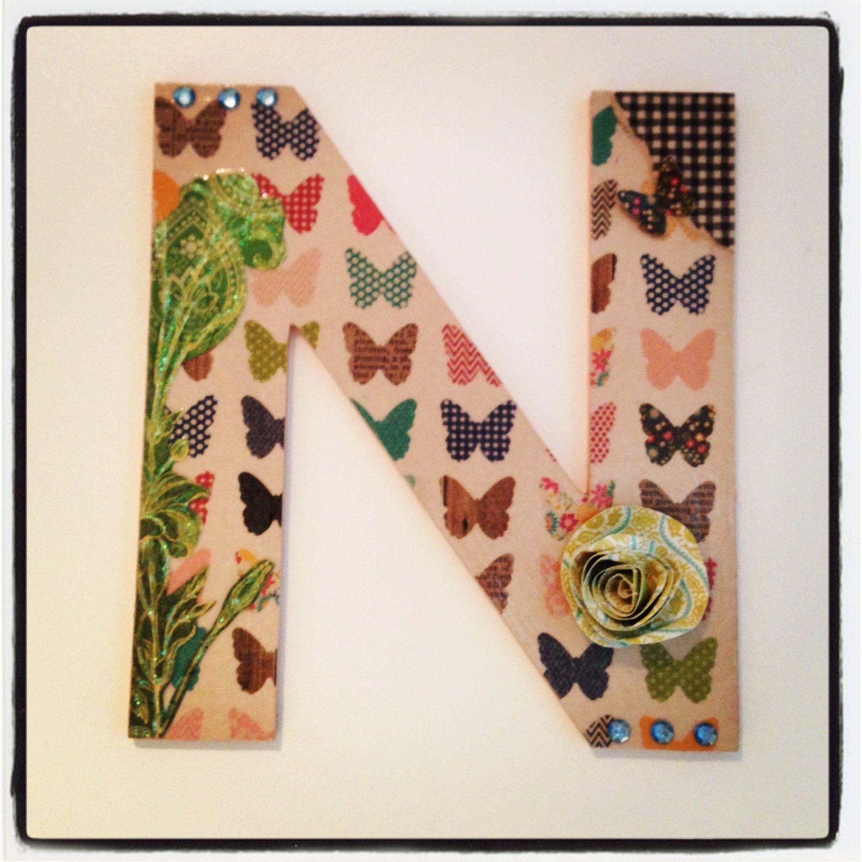 Letras decorativas de madera wall letters pinterest - Letras de madera decorativas ...
