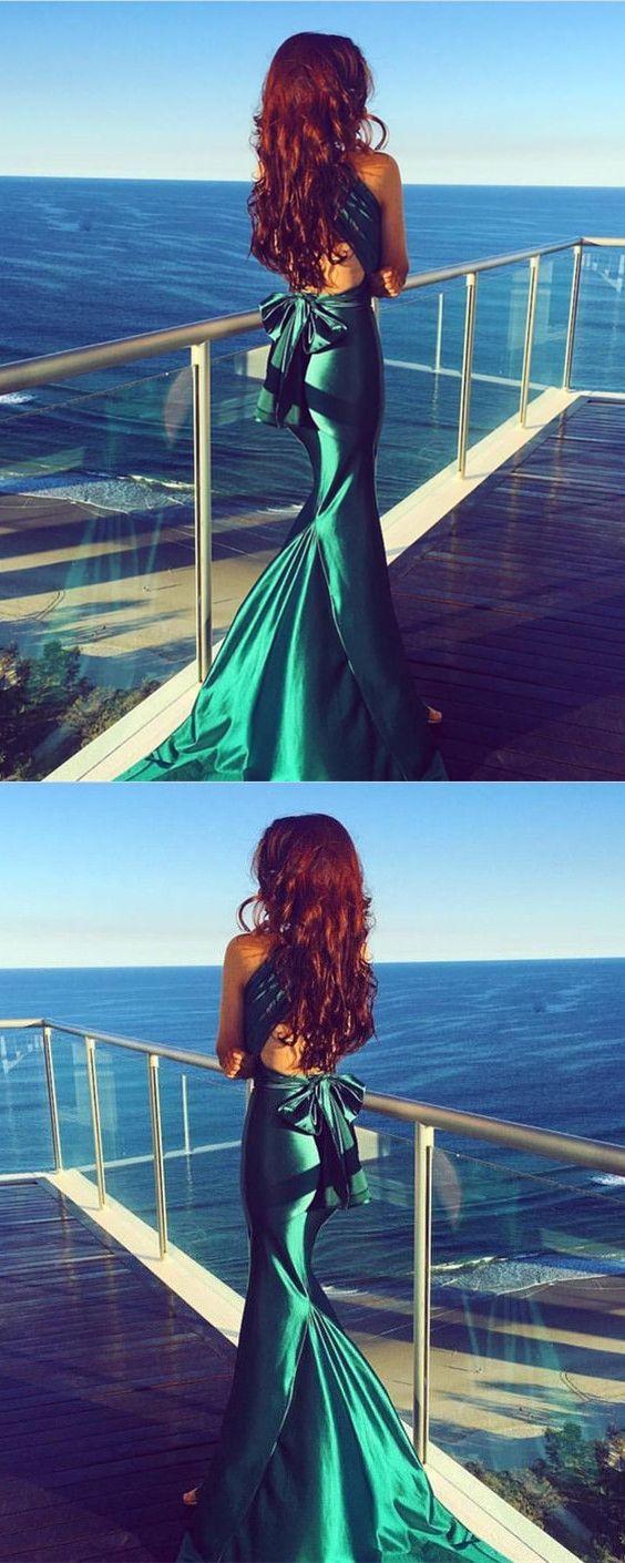 Dark green prom dressmermaid prom dressmermaid evening dressprom