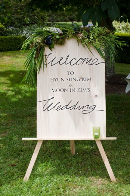 All The Frills Blog | All The Frills | Garden Wedding by www.allthefrills.co.nz, welcome sign