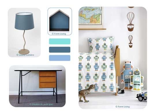 planche tendance chambre enfant bleu lilya pinterest robins and room. Black Bedroom Furniture Sets. Home Design Ideas