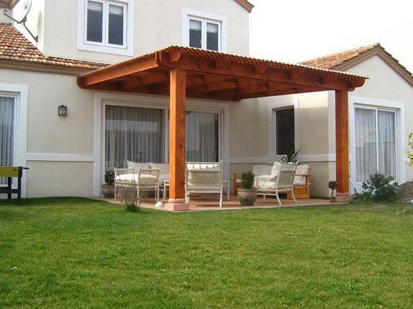 Attached pergola plans attached pergolas comfy jackie for Disenos de patios traseros