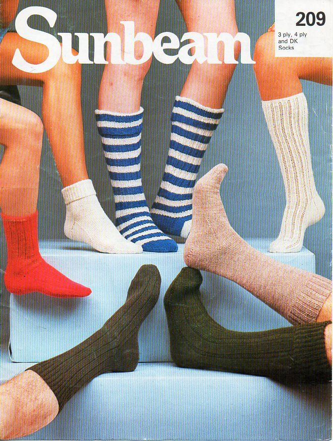 Mens Womens Childrens Socks Knitting Pattern Pdf 3ply 4ply Or Dk