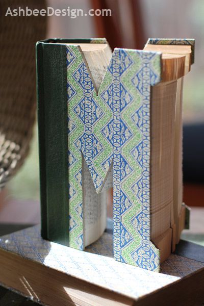 I love the idea of using antique books to make monogram letters my i love the idea of using antique books to make monogram letters my goal is to make a set of letters that say read what would you spell out book spiritdancerdesigns Images