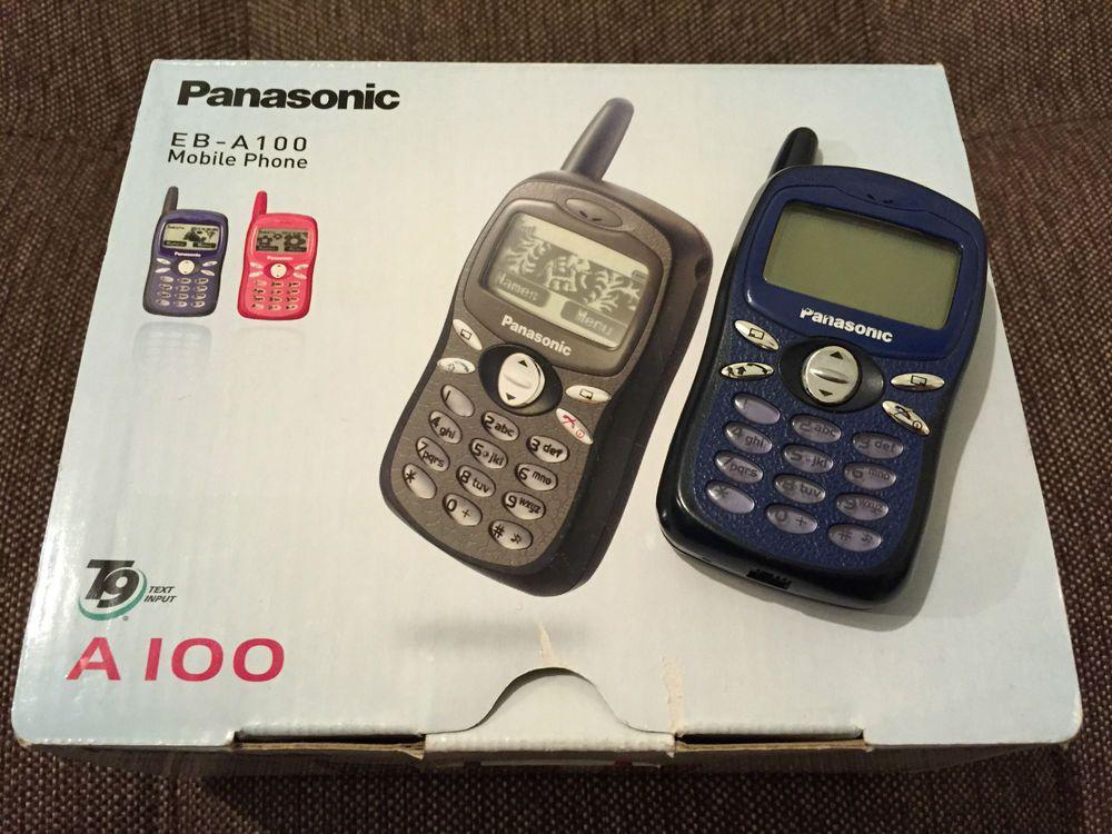 Panasonic A100 Bue Unlocked Cellphone Vintage Collectible Classic Phones Vintage Phones Panasonic