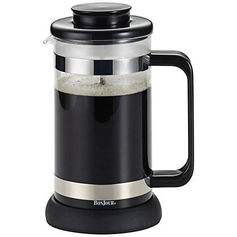 BonJour Coffee and Tea Black 8 Cup Riviera French Press