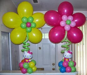 Cómo hacer Flores con Globos - Decoración con Globos : Fiestas y todo Eventos