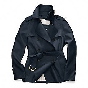 $348.00 Coach Black Short Trench